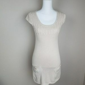 Hooked Up by lot Beige Sweater Dress Light Brown